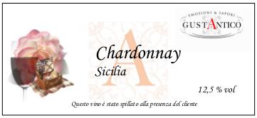 Etichette adesive vino sfuso