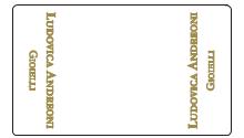 Esempio di etichetta chiudipacco per gioielli