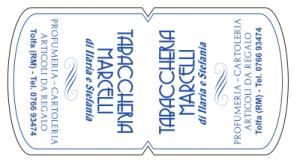 Esempio di etichetta chiudipacco per tabacchini