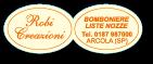 Etichette adesive ovali per bomboniere