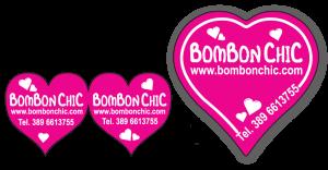 Etichetta per bomboniera a forma di cuore