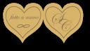 Etichette adesive a forma di cuore