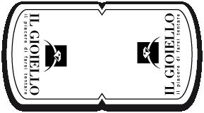 Etichetta chiudipacco a sfondo bianco